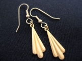 Art deco style brass and stainless steel earrings