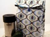 Retro Wave Reusable Reversible Lunch Bag Laminated Cotton