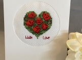 Greeting card- Floral Heart saying With Love