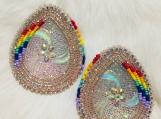 Large Beaded Earrings