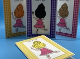 My Childrens Thankyou Cards- Dancing Girl