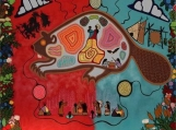"""""""Wisdom [Beaver]: For our Leaders"""" Acrylic on Canvas (Original Painting)"""
