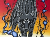 """""""King Nocturnal"""", Native Canadian Print"""