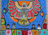 """""""Love [Eagle]: For Residential School Survivors"""" Painting or Print (4?? x 5?? Original Painting, Acrylic on Canvas)"""