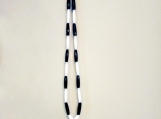 Men's Native Necklace With Bone, Stone & Glass Beads (Black & White)