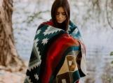 Multicolored Alpaca Wool Native Tribal Blanket (Multi-colored)