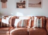 Decorative Inca Throw Pillow, Tribal Pattern