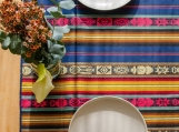 Hand-Woven Traditional Inca Table Runner / Wall Decor (Blue)