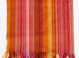 Handwoven Bohemian Pashmina Scarf / Shawl (orange et rose)