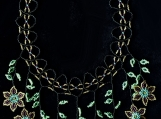 Mayan Indigenous Beaded Multicolour Necklace (Green Flowers)