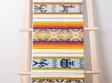 Traditional Hand-Woven Table Runner / Tablecloth for Two / Wall Decor (cr??me et or)