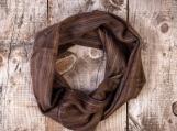 Alpaca Infinity Loop Boho Scarf, Cozy & Oversized (Traditional Inca Style) (Brown)