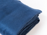 Alpaca Wool Boho Throw Blanket / Meditation Blanket (bleu et blanc)
