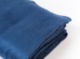 Alpaca Wool Boho Throw Blanket / Meditation Blanket (bleu et blanc)