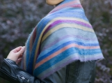 Colorful Handmade Alpaca Wool Scarf / Shawl (Multicolored)