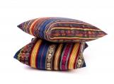 Colorful Inca Decorative Bohemian Throw Pillow, Tribal Pattern