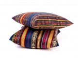 Colorful Inca Decorative Bohemian Throw Pillow, Tribal Pattern