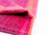 Cozy Alpaca Wool Baby Blanket, Traditionally Woven, in Pink Tones (Pink)