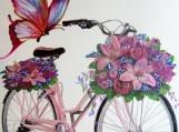 """Bicycle, Bicycle take me away!"", Original Native Canadian Painting"