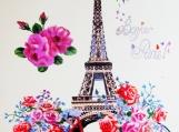 """Bonjour Paris!"", Original Native Canadian Painting"