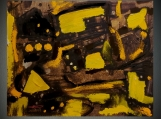"""""""BROWN, YELLOW"""", Native Canadian , Original Acrylic on Paper"""