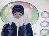"""Child Spirit Colours"", Original Native Canadian Painting"