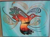 Hummingbird, Native Canadian Painting