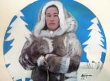 """Inuit Goddess of Fertility"", Original Native Canadian Painting"