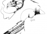 Spiritual Journey 21 (Eagle), Drawing on Paper