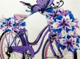 """Sunshine and Biking!"", Original Native Canadian Painting"