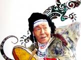 """Woman Katuk - Drum Beater"", Original Native Canadian Painting"