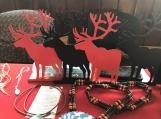 Metal Deer Book Ends, Traditional Native Canadian Home Decor (Set of 2) (Light Blue)