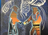 Reconciliation, Fluorescent, Glowing Painting, Canvas