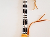 Leather Chockers with Bone & Glass Beads