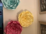 Accent wall flowers