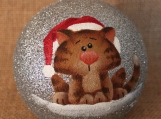 Cat Glitter Ornament