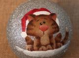 Cat Glitter Ornament