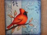 """Choose Hope"" Cardinal Canvas"
