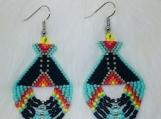 Colorful Native Beaded Teepee Earrings