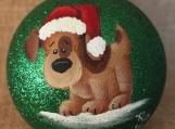 Dog Glitter Ornament