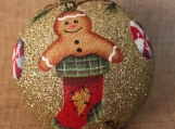 Gingerbread Glitter Ornament