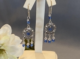 Silver/Sapphire Chandelier Earrings