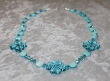 Sky Blue Clover Collection necklace larger