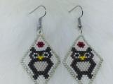 Native Beaded Earrings (Owl)