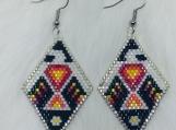 Native Beaded Thunderbird Earrings