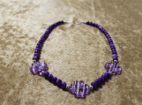 Purple Clover Collection Necklace (Larger)