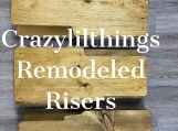 Riser - PE800 sized  embroidery machines -Golden Oak Finish