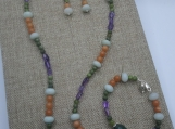 Amethyst And Agate Beggar Beads Set