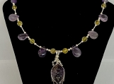 Ametrine necklace, Buddha, Goddess necklace, amethyst, citrine