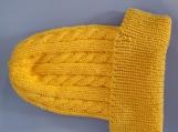 cabled hat bright lemon